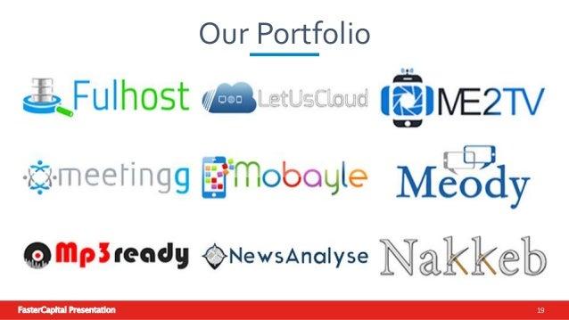 FasterCapital Presentation 19 Our Portfolio