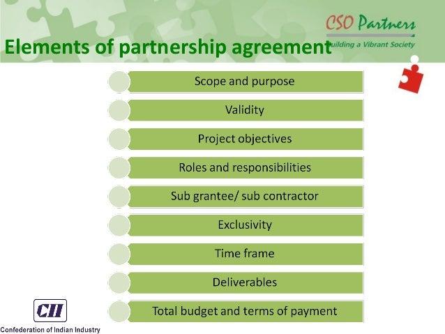 Corporate ngo partnership elements of partnership agreement platinumwayz
