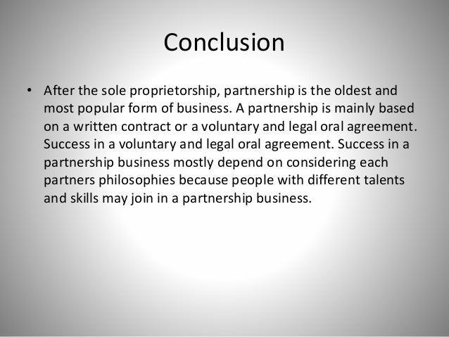 conclusion of partnership act 1932
