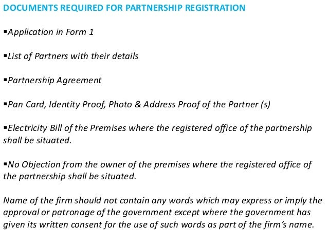 How to form a partnership firm in India ?????