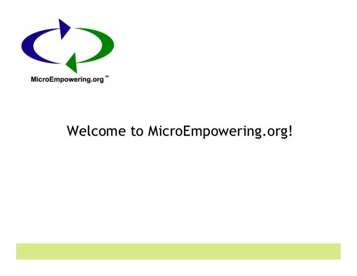 Welcome to MicroEmpowering.org!