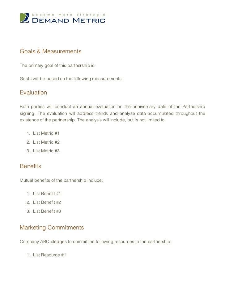 Partnership Marketing Agreement