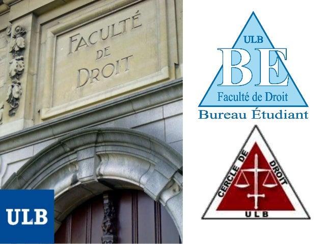 """• fondée en 1834 • nouvelle appellation depuis la rentrée 2010-2011 : """"Faculté de Droit et de Criminologie"""" • programmes :..."""