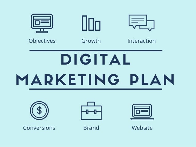DIGITAL MARKETING PLAN Conversions Brand Website Objectives Growth Interaction