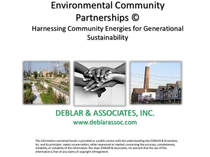 Environmental Community                   Partnerships ©Harnessing Community Energies for Generational               Susta...