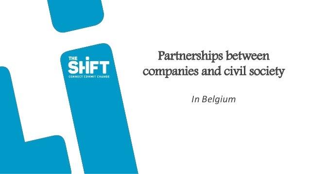 Partnerships between companies and civil society In Belgium