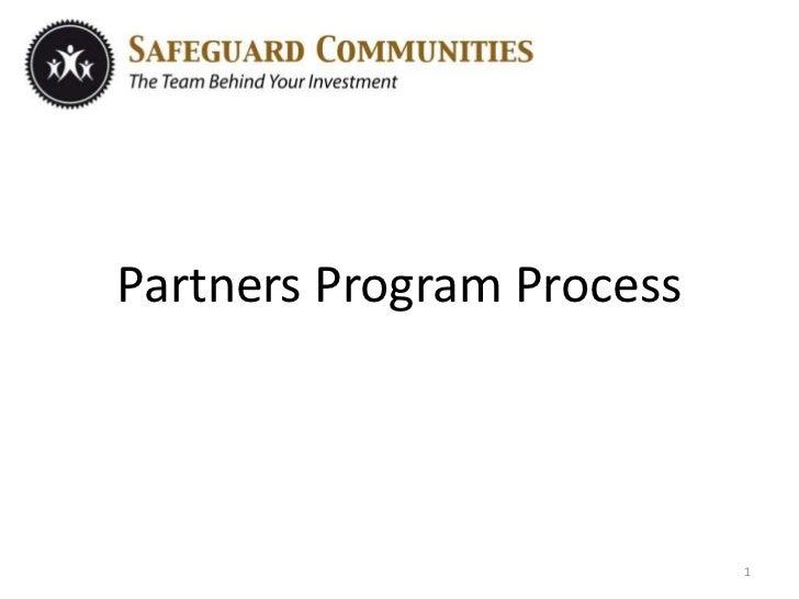 Partners Program Process<br />1<br />