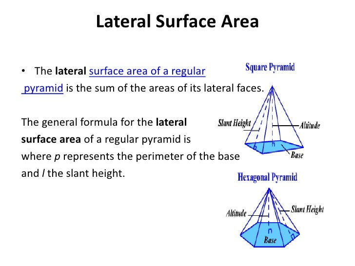 The gallery for --> Surface Area Of A Pyramid Formula