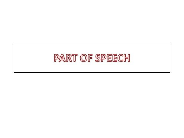 PART OF SPEECH<br />