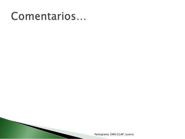 Partograma. OMS/CLAP. Lucero.