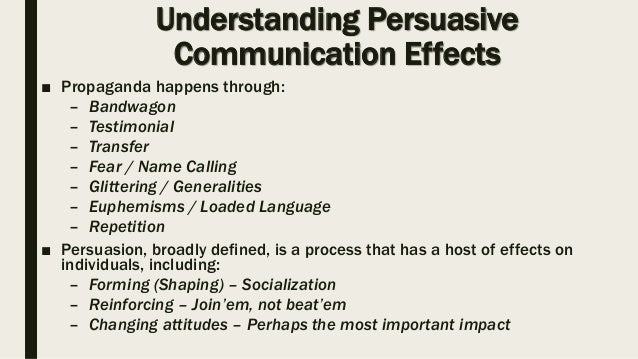 The dynamics of persuasion: communication and attitudes in