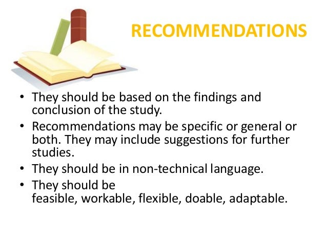 Definition of recommendation in research paper
