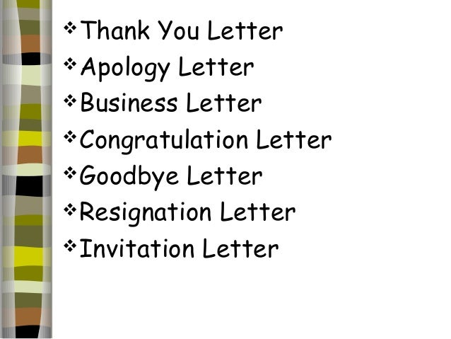 DIFFERENT TYPES OF LETTER 13