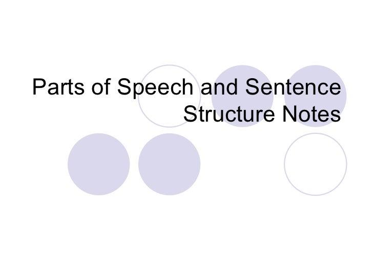 parts of speech notes pdf