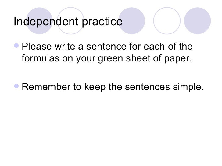 notes sentence structure A clause ('independent', 'content' or 'finite') expresses a complete thought and can stand alone as a grammatical sentence it has at minimum a subject and predicate.