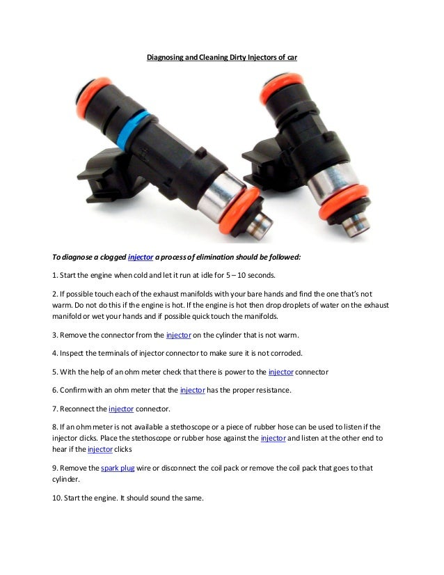 Partsavatar ca diagnosing and cleaning dirty injectors of car