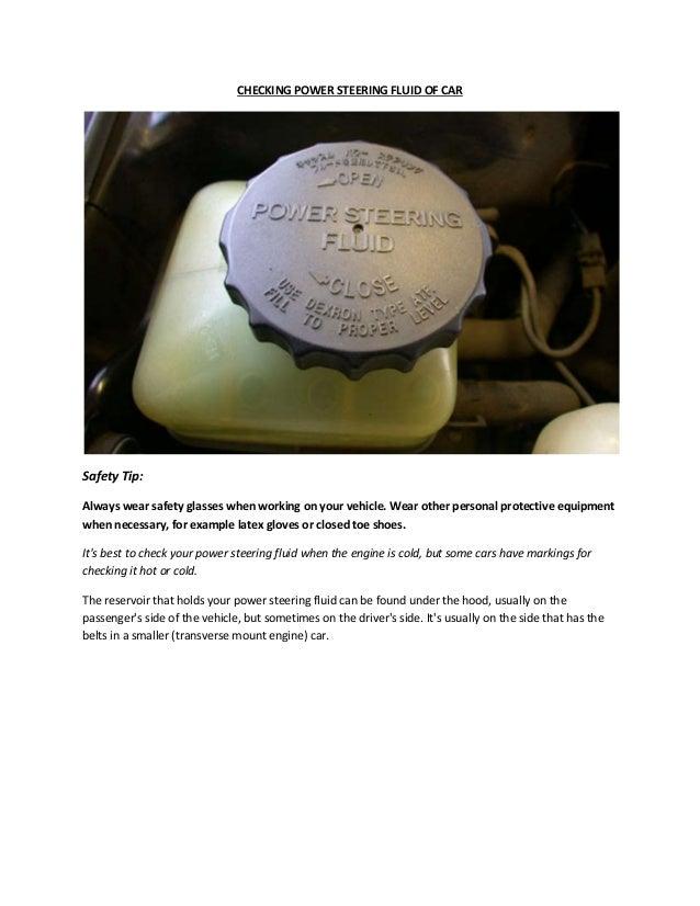Check Power Steering Fluid >> Partsavatar Toronto How Can I Check Power Steering Fluid