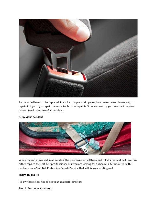 Defective Seat Belt Retractor 2