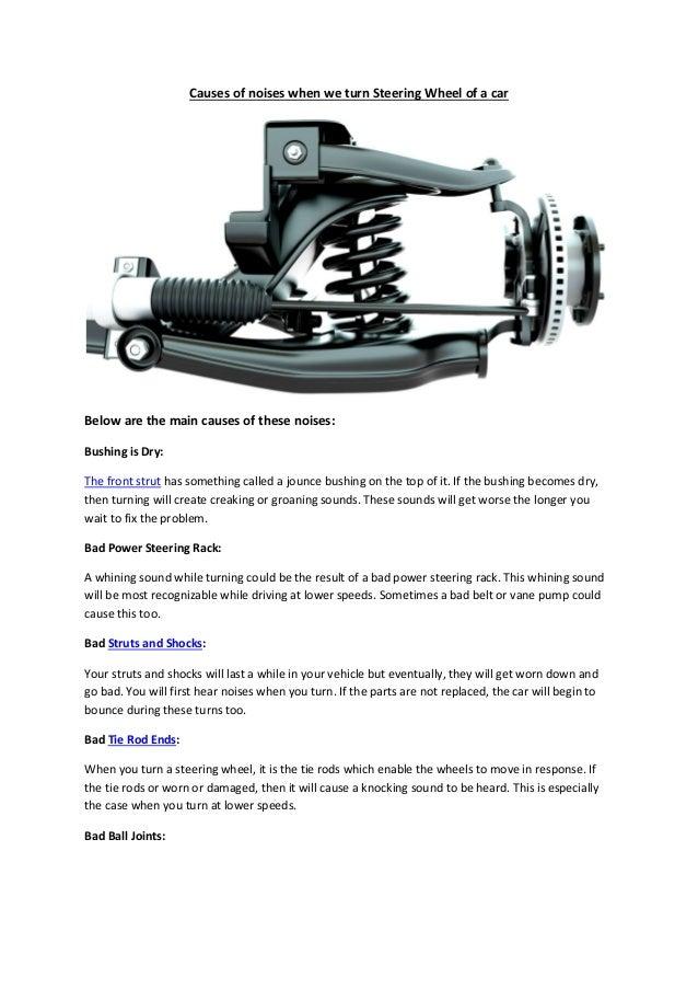 Partsavatar Car Parts, Canada - Causes of noises when we
