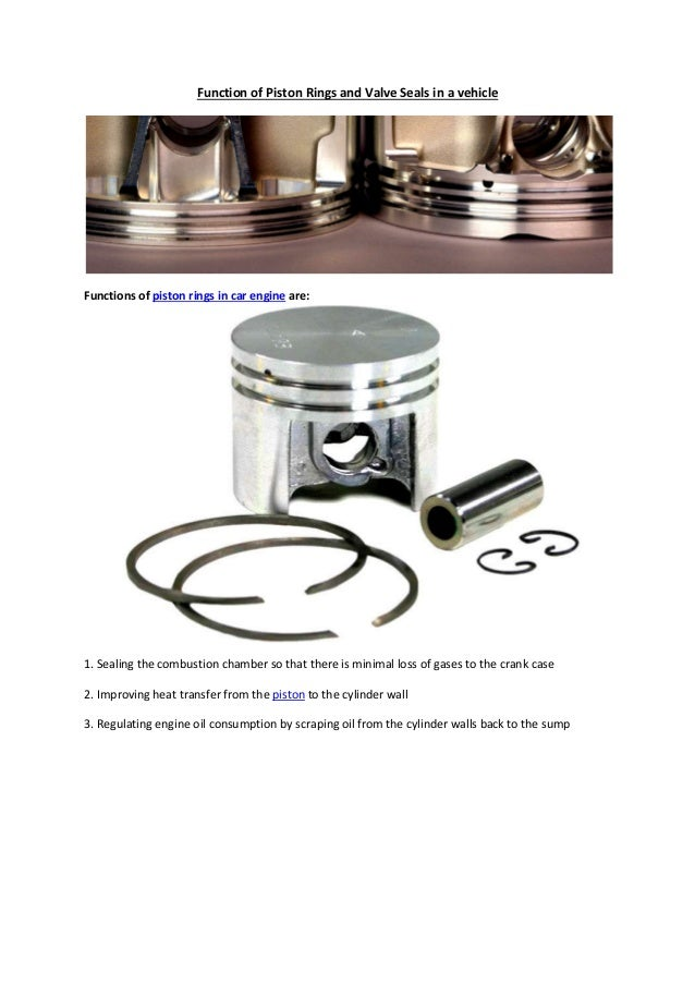 Partsavatar, Canada - Function of piston rings and valve seals in a v…