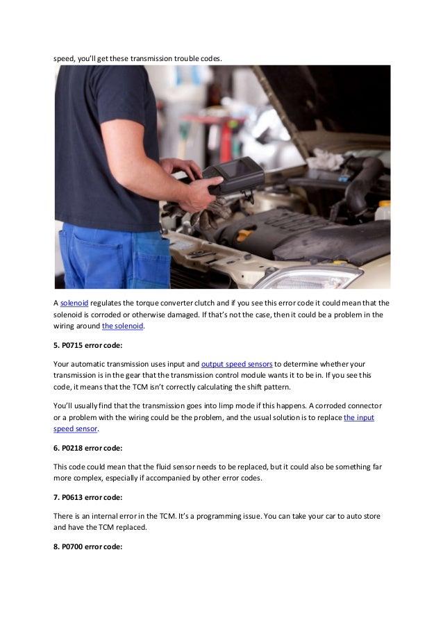 Partsavatar  CA - Most common OBD error codes for transmission proble…