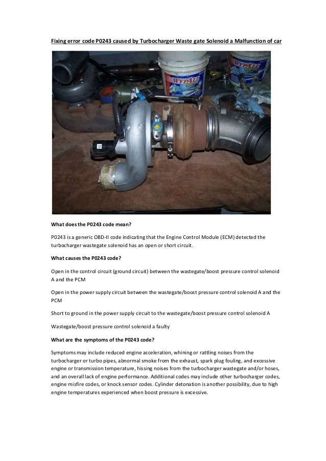 Wastegate Boosted