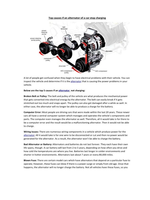 Partsavatar Canada Top Causes If An Alternator Of A Car Stop Charg