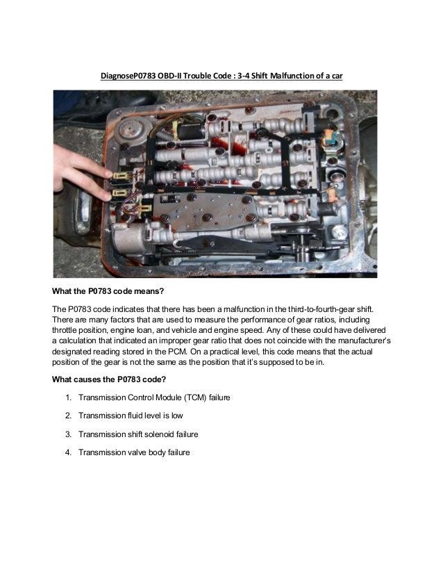 Partsavatar, Toronto - Diagnose P0783 OBD-II Trouble Code 3