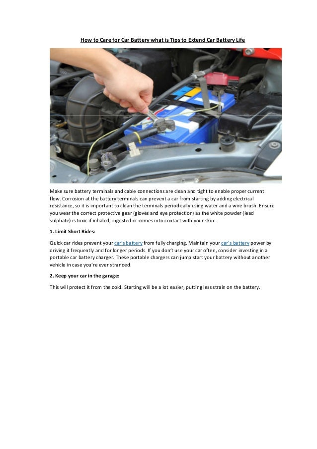 Partsavatar Replacement Parts Ca What Is Tips To Extend Car Battery