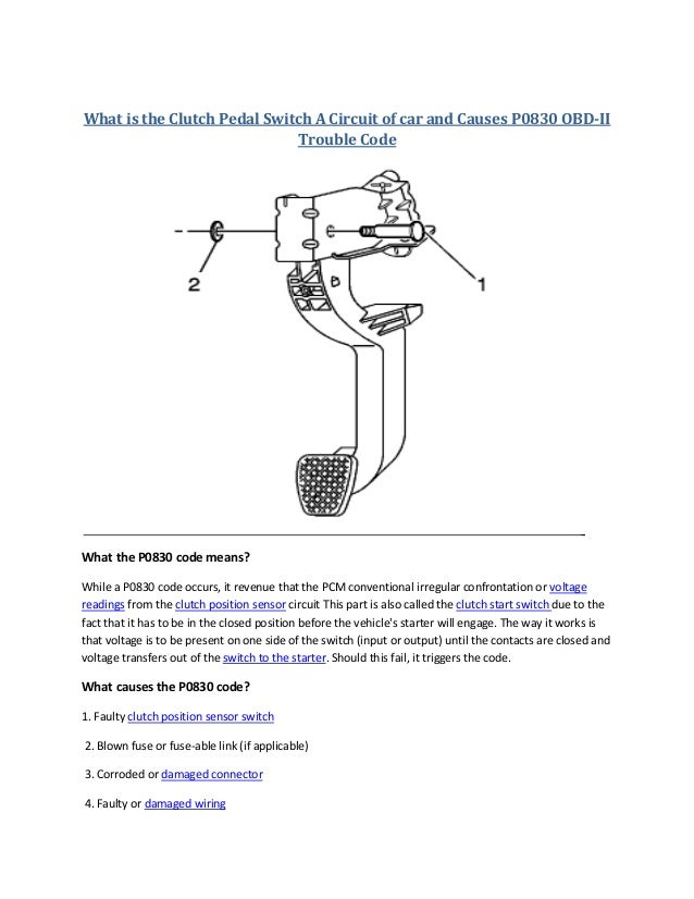 What Is A Clutch In A Car >> Partsavatar Ca What Is The Clutch Pedal Switch A Circuit