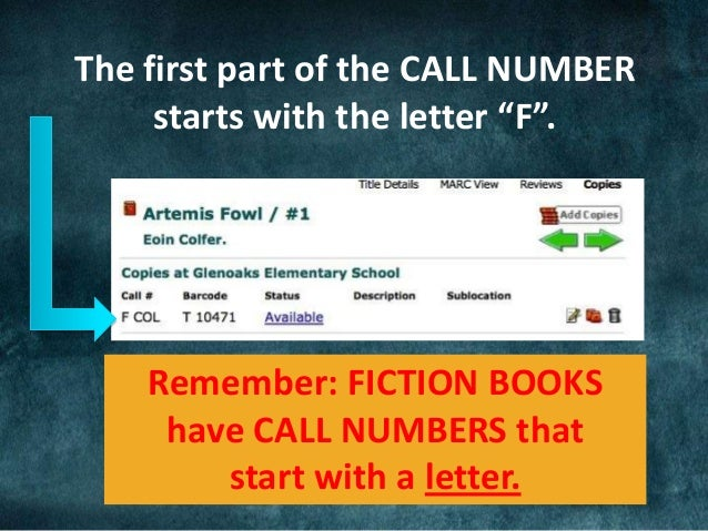 Introduction To Call Numbers Grades 3 4