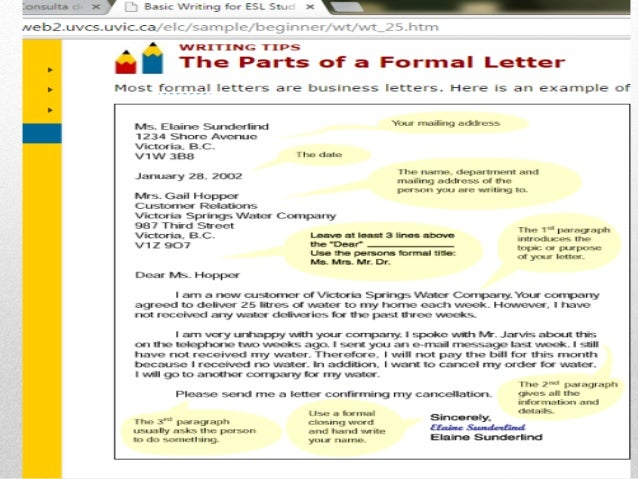 parts of a business letter business letter parts 23901 | business letter parts 2 638