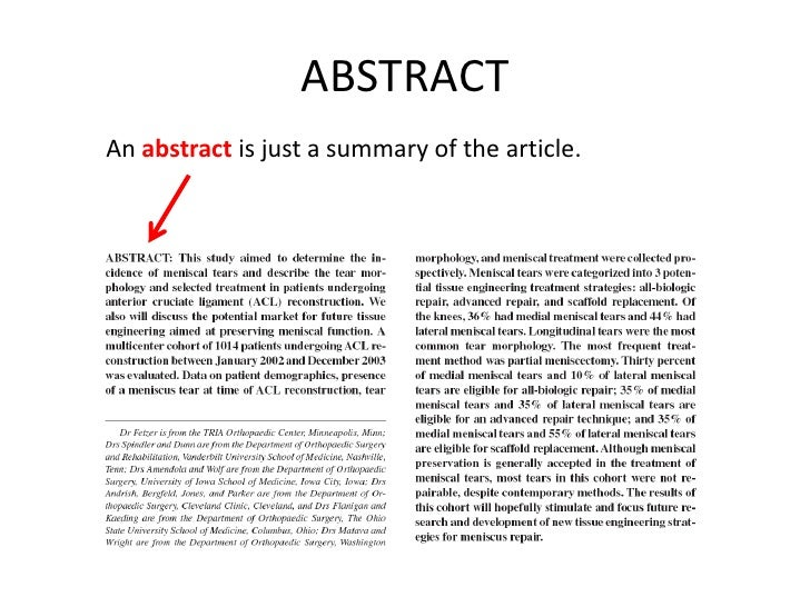 articles abstract