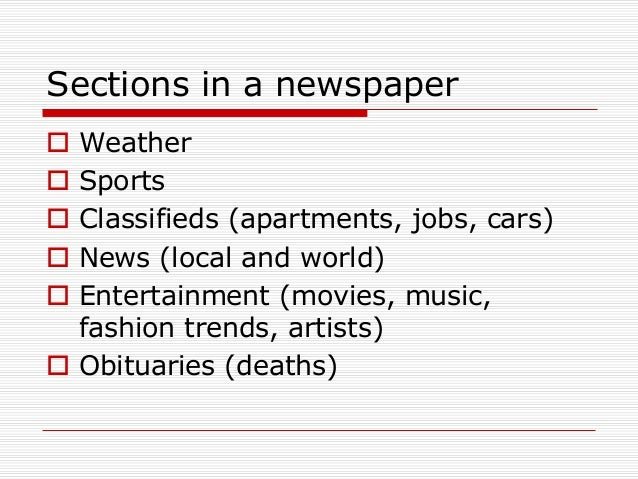 Parts of a_newspaper