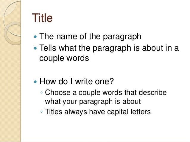 Image result for writing titles for a paragraph