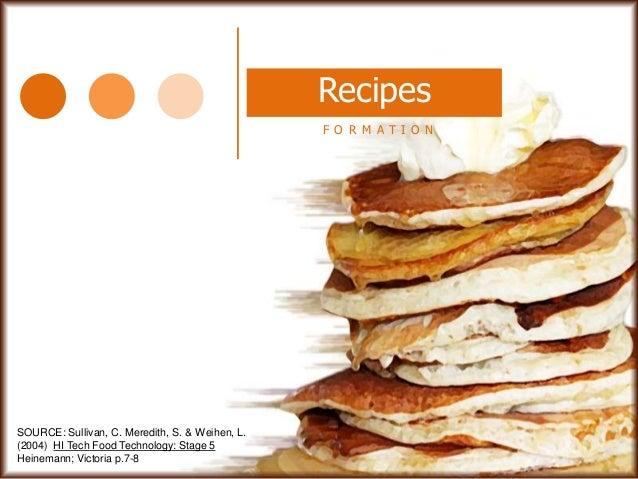 Parts of a recipe presentation parts of a recipe presentation source sullivan c meredith s weihen forumfinder Images