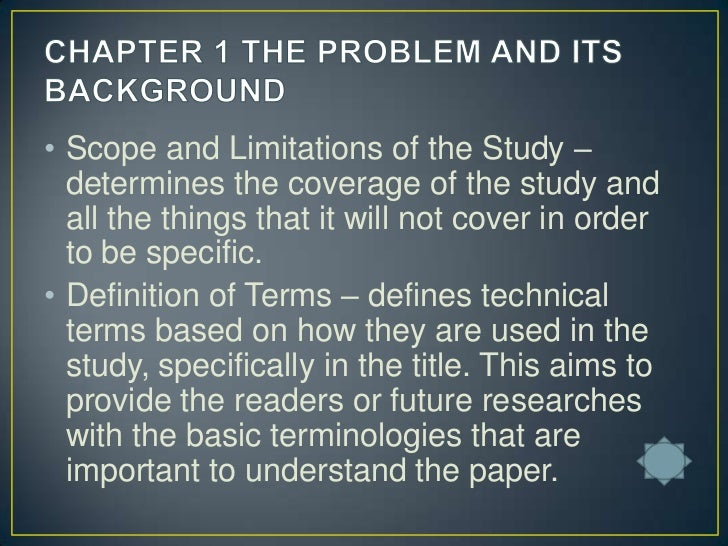 meaning of background of the study