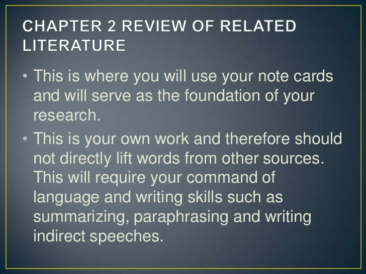 parts of research paper chapter 2