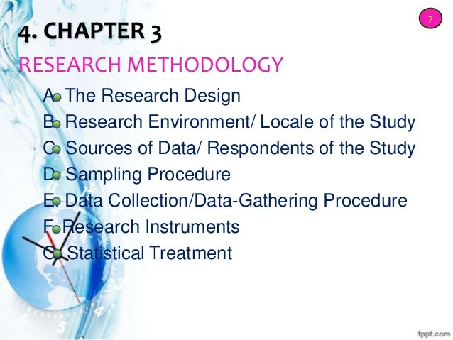 parts of a research design paper