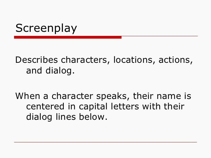 Parts of a Script Slide 2