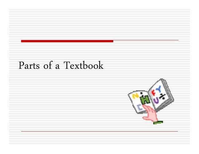 Parts of a Textbook