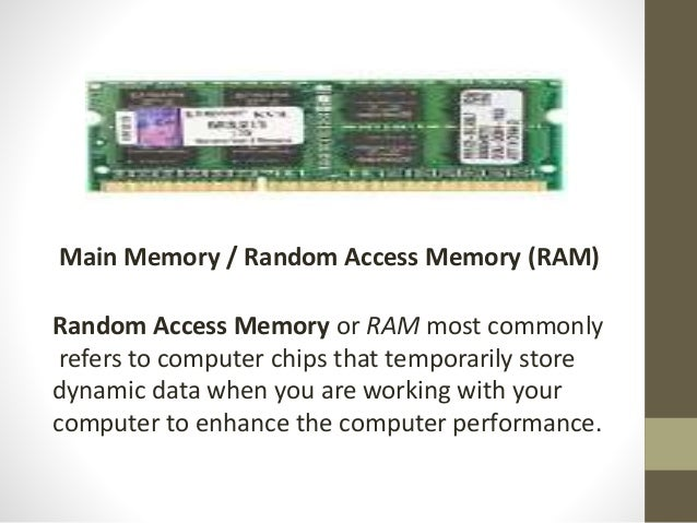 what is the function of random access memory