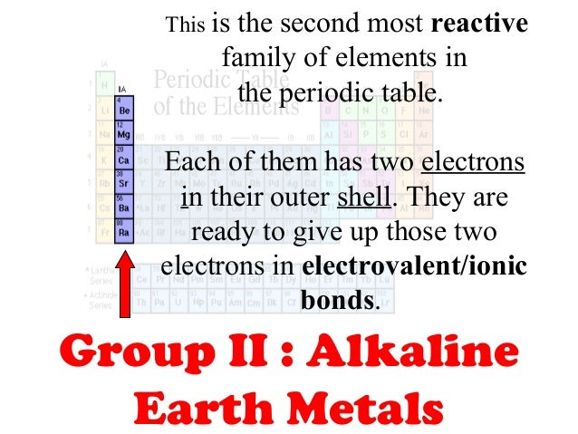 Parts of periodic table 11 this is the second most reactive family of elements in the periodic table urtaz Choice Image
