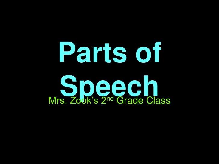 Parts of Speech<br />Mrs. Zook's 2nd Grade Class<br />