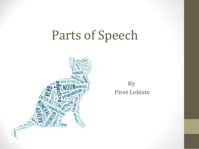 Parts of SpeechByPiret Lehiste