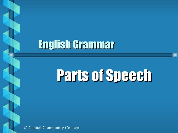 English Grammar Parts of Speech