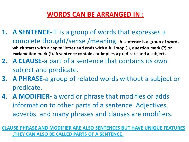 parts of speech  u0026 parts of a sentence