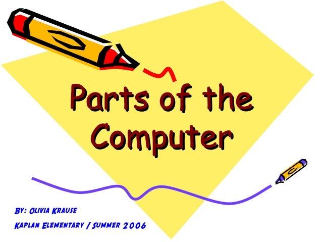 parts of computer essay