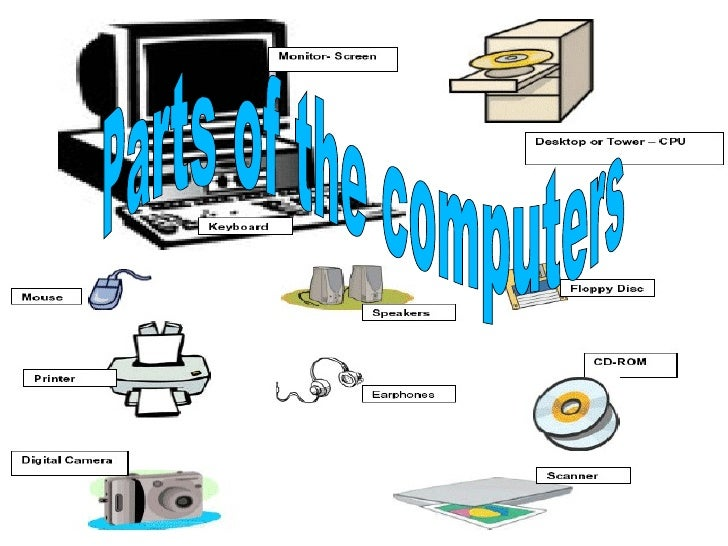Parts of the computers
