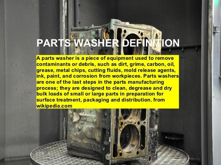 Parts washer Slide 2